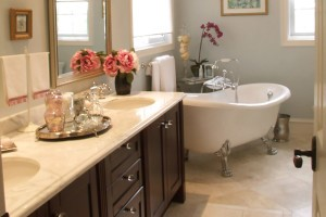 How to decorate an elegance bathroom for a new house in Perth